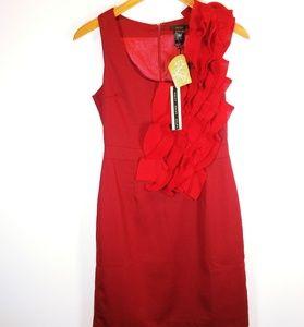 Esley red sleeveless dress